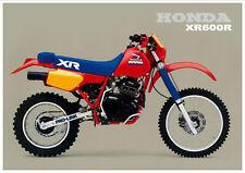 HONDA Poster XR600R XR600 R 1985 VMX Suitable to  Frame