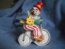 Vintage Yona Original Clown On Bike Figurine Made In Japan 1956