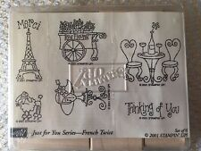 Stampin' Up French Twist Set of 6 Stamps Retired 2001 Paris Eiffel Tower Poodle