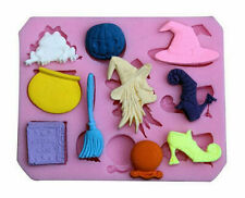 Witch Assortment 10 Cavity Silicone Mold for Fondant Gumpaste Chocolate Crafts