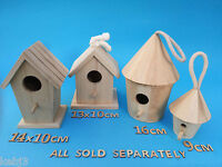 Wooden BIRD HOUSE Small Or Medium Plus Other CRAFT Wooden Items to decorate