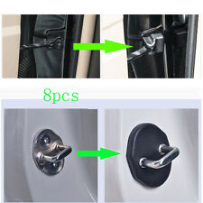 8PCS For Suzuki Vitara Car Black Door-Lock&Limiting-Stopper Protector Covers dec