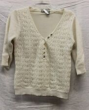Tristan & Iseut White Sweater Women's Size Medium GREAT Used Condition