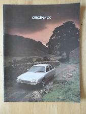 CITROEN CX range 1979 1980 UK Mkt prestige sales brochure