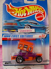 1998 #2 FE Hot Wheels orange & purple SLIDEOUT #640 variant 40 blue car card