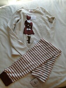 NWT Hanna Andersson Christmas Outfit Shirt & Leggings size 140  US 10 So Soft