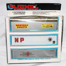 Lionel 6-12907 Set of THREE Intermodal Containers O NP WP CP Rail Canadian pacif