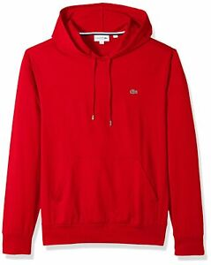 Mens Lacoste Jersey Cotton Long Sleeve Hooded T-shirt TH9349 Regular Fit NEW
