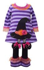 Bonnie Jean Girls Halloween Switches Hat Applique Dress Leggings 12M 18M 24M