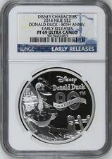 2014 Niue 1 Oz Silver Disney Donald Duck 80th Anniv $2 NGC PF69 UC ER