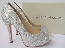 Benjamin Adams Charley Reino Unido 9/EU 42 Cristal Nupcial Boda Peep-Toe Sandalias Zapatos