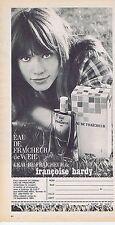 PUBLICITE ADVERTISING 015 1964 WEIL eau de fraîcheur avec Françoise Hardy