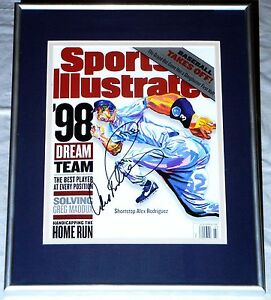 ALEX RODRIGUEZ HAND SIGNED AUTOGRAPHED FRAMED SPORTS ILLUSTRATED MAGAZINE! PROOF