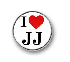 "I LOVE / HEART JJ / 1"" / 25mm pin button / badge / band / pop / Union J"