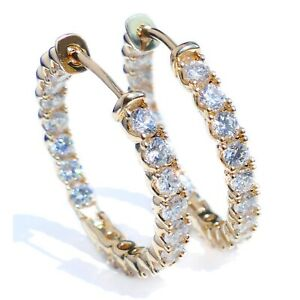 Sparkling Simulated Diamond Gold Filled Hoop 30mm Earrings