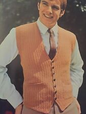 "Cm4 -Knitting Pattern - Smart 4-Ply Men's Waistcoat - Sizes 36 [38, 40, 42]"""