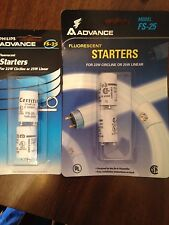Lot of 2Philips Advance FS-25 Fluorescent Starters For22w Circline or25w Linear