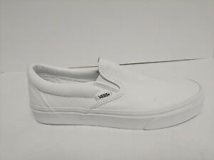 Vans Adult Classic Slip-on Shoes, True White, Mens 7, Womens 8.5 M