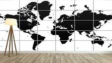 WORLD MAP CARTE DU MONDE Vector Style XXL Poster Home Deco Salon 252cmX150