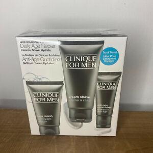 Clinique for Men Daily Age Repair Set Gift Moisturiser Face Wash Cream Shave NEW