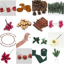 CHRISTMAS WREATH /GARLAND DECORATION ORANGE/APPLE SLICES PINE CONES CINNAMON ETC
