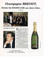 PUBLICITE ADVERTISING 104  1986 CHAMPAGNE BRICOUT remise SCEAUX D'OR ALAIN DELON