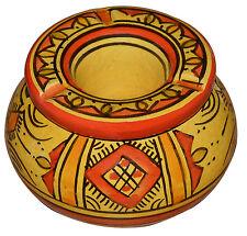 Moroccan Cigarette Ashtray Handmade Ceramic Outside Patio Smokeless SM Orange