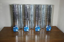 Foil Insulation, double foil, single bubble, C/W Aluminium Tape, Free UK Postage
