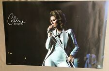 "RaRe vintage Celine Dion poster 22x34"" pop music glossy 90s 1990s diva star"