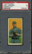 1909-11 T206 Piedmont Carl Lundgren Kansas City PSA 3 +++ Tough Card