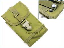 Large Army Green iPhone Samsung MOLLE Mobile Phone Smartphone Belt Pouch Bag TS2