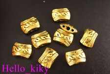 50Pcs Antiqued gold plt 3 Hole bail style spacer bead A29
