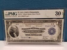 1918 Large $1 Federal Reserve Bank Philadelphia Fr # 717* Star Note, PMG 30 EPQ