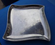 Platter 14 inch Square Metal Alloy Glossy Finish
