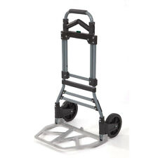 Black CBTONE Folding Hand Truck Lightweight Portable Luggage Cart 100 lbs Capacity with Black Bungee Cord and Storage Bag