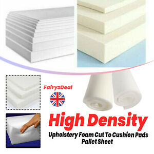 Upholstery Foam Sheet Cut To Size High Density Any Thickness Size