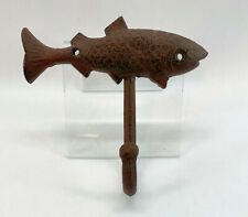 Rustic Iron Fish Coat or Wall Hook