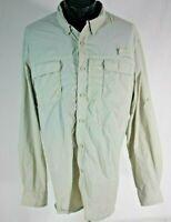 Outdoor Life Fishing Shirt Vented Long Sleeve Mens XL Tan