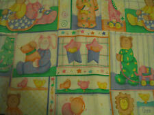 "YELLOW BEAR MATERIAL, 19"" X 32"", PERFECT FOR QUILTING SQUARES!"