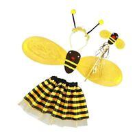 4X Bumble Bee Honey Girls Kids Fairy Halloween Fancy Dress Up Party Costume G3Y6