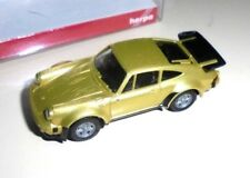 car 1/87 HERPA 030601 PORSCHE 911 TURBO 1984 MET GOLD NEW BOX