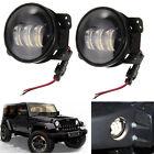 "2x 4"" Inch 30W LED Fog Light & Halo Angle Eyes For 07-17 Jeep Wrangler JK"