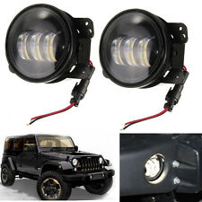 "2x 4"" Inch 30W Cree LED Fog Light & Halo Angle Eyes For 07-17 Jeep Wrangler JK"