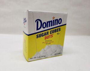 Domino SUGAR CUBES Dots 1 Lb. Premium Pure Cane Sugar Sweetener 126 cubes!
