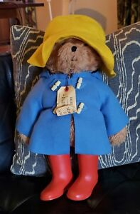 "VTG Paddington Bear Eden 20"" large stuffed animal plush 1974 1975 all intact"