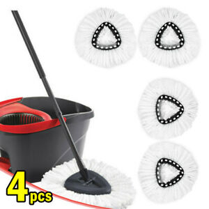 4pcs Easy Wring Clean Turbo Microfibre Replacement Refill Mop Head for Vileda UK