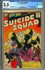 Brave and the Bold #25 CGC 3.5 DC 1959 1st Suicide Squad! Key Silver! K10 201 cm
