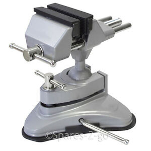 Mini Table Top Vice Clamp Strong Suction Cup Base Hobby Craft Electronics Model