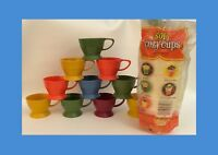 Qty 10 Vintage Solo Crazy Cups With Bag Of 40+ 7 Oz Refill Cups