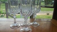 Wine Glasses Longchamp by CRISTAL D'ARQUES-DURAND 4 5.75oz cut crystal stems